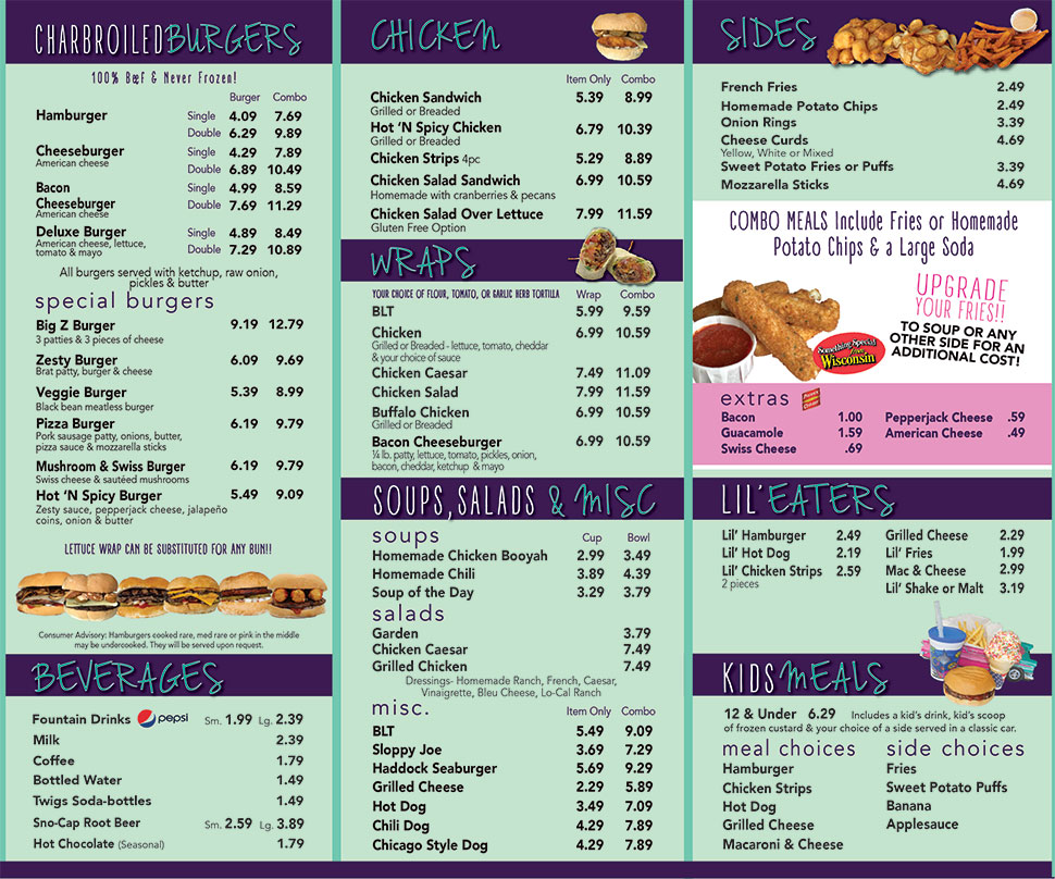ZestyS Food Menu