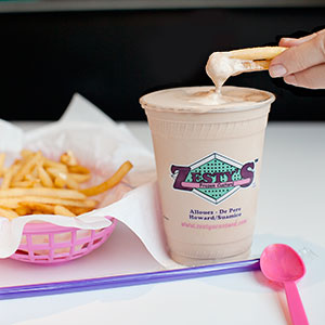 Fries and Milk Shake at Zesty's Frozen Custard and Restaurant in Green Bay, WI