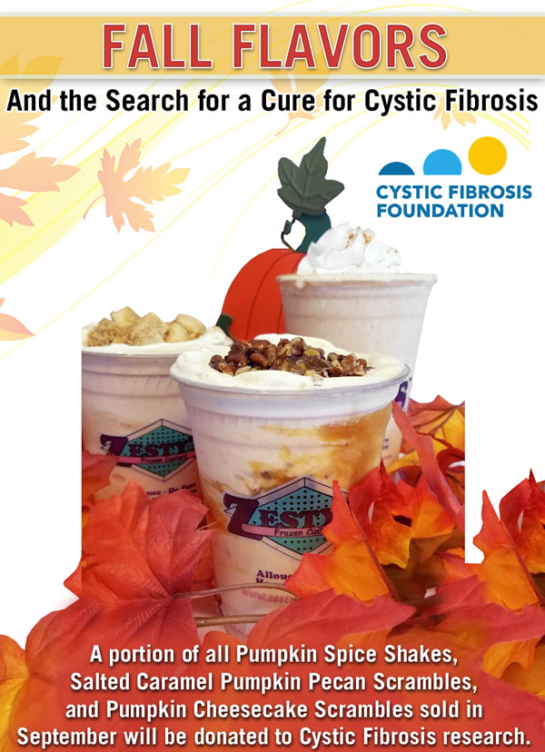 Featured Chairty: Fall Pumpkin Flavors and Cystic Fibrosis