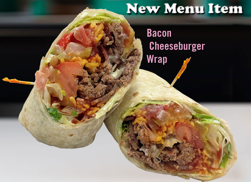 Bacon Cheeseburger Wrap at Zesty's Restaurant in Green Bay, WI
