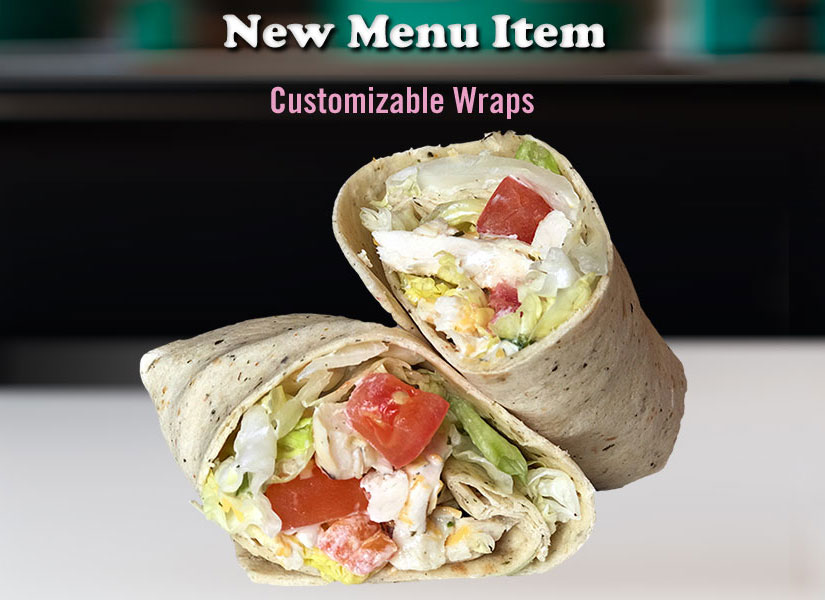 Customizable Wraps at Zesty's Restaurant in Green Bay, WI
